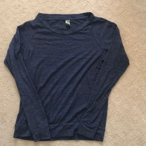 Alternative apparel navy blue long sleeve tee